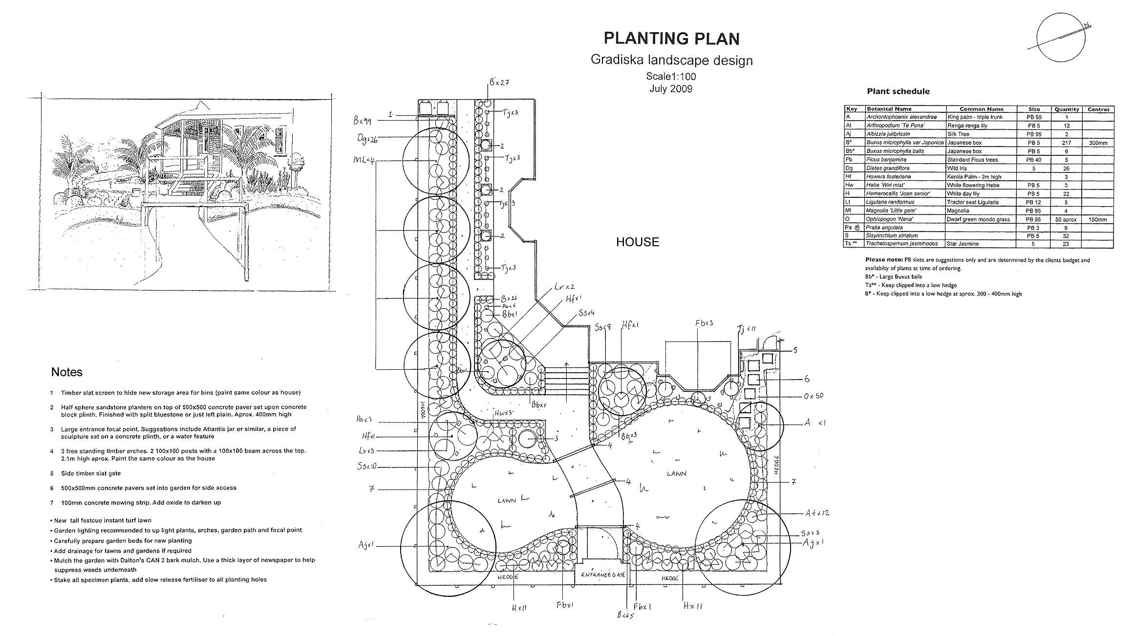 planting plan garden plans landscape gardens auckland